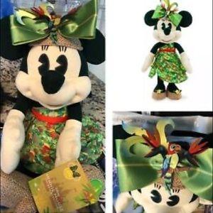 NWT Minnie main attraction Tiki room plush